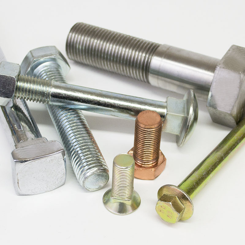 stainless steel bolts, hex bolts, cup square, copper bolts, holding down bolts